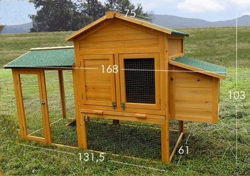Pollaio in legno da giardino cortile - NUOVO - consegna GRATIS - Annunci Salerno