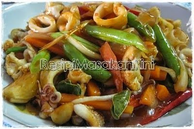 Resipi Paprik Sotong Sedap   ResipiMasakanKini™   Koleksi Resipi Masakan Myresipi Online