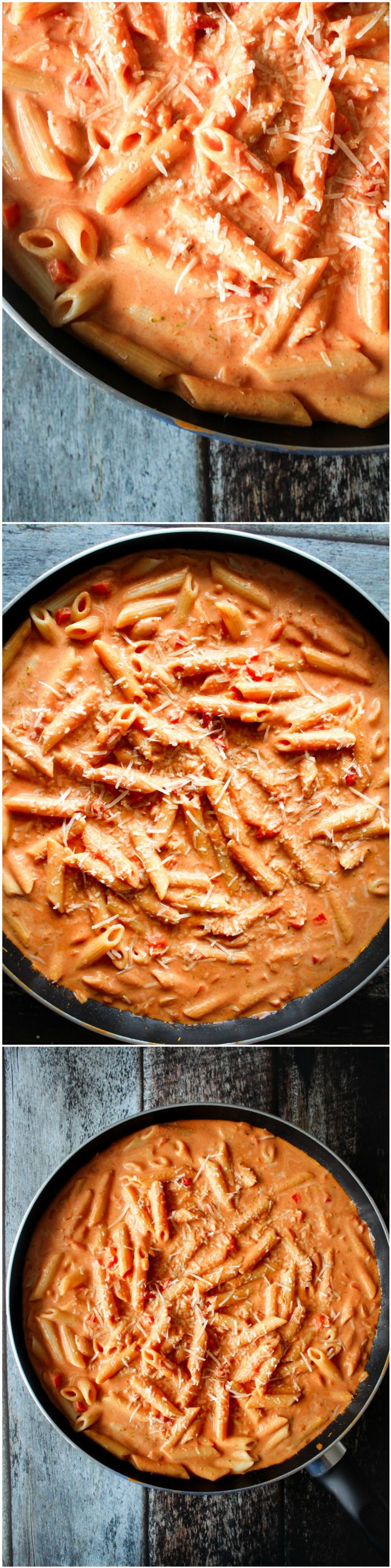 Pasta in a creamy whisky sauce - homemade pasta sauce - easy dinner - easy pasta dish