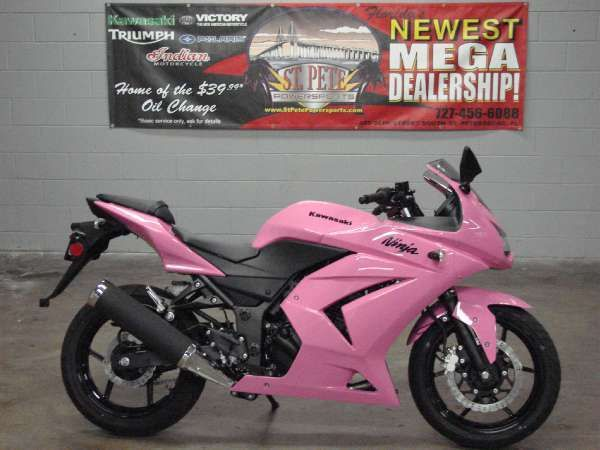 2012 Kawasaki Ninja 250R-Might even go with a pink one too lol