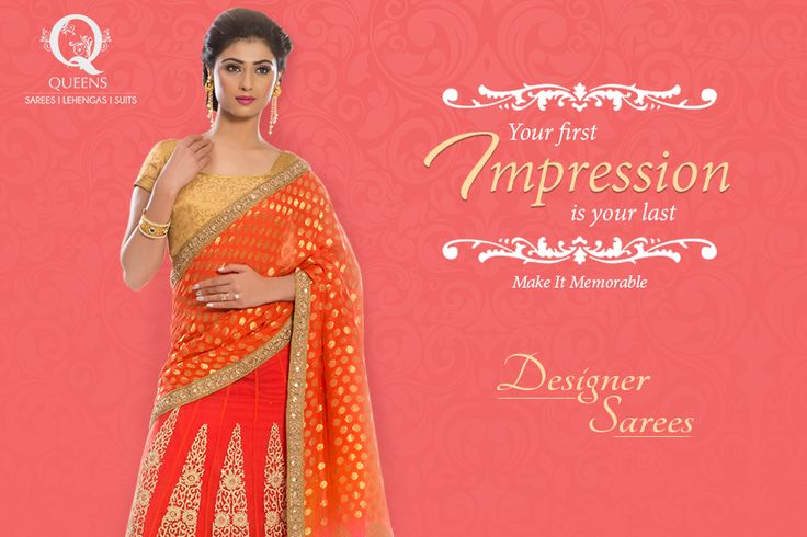 Make a timeless impression at social gatherings and be a show stopper with designer sarees from Queens Emporium.  #QueensEmporium #DesignerSarees