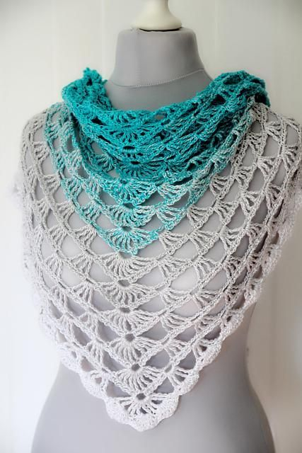 1002 best Crochet triangle shawls images on Pinterest