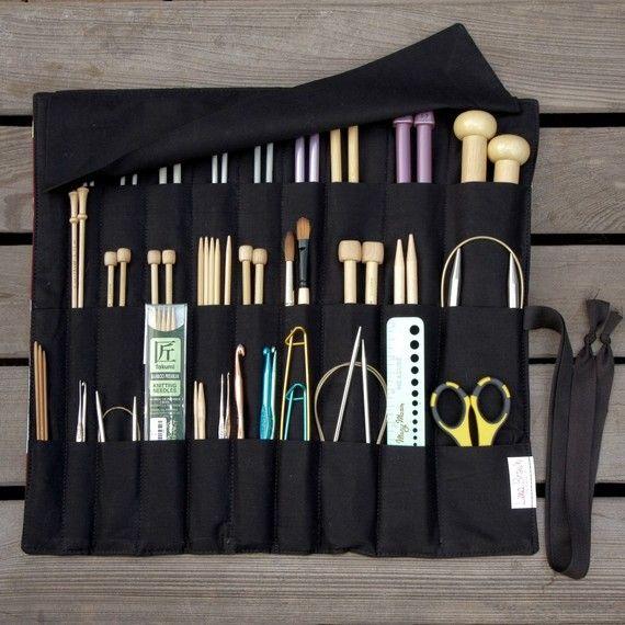 手机壳定制designer boutiques online CUSTOM Knitting Needle Case or Art Tool by lenabrowndesigns