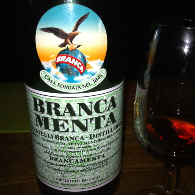 Branca Menta at Bramble Bar in #Edinburgh, #Scotland. #liquor #spirits #liqueur