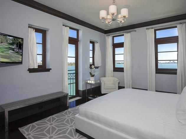 Guest Bedroom Waterfront Mansion Featured In Kourtney And