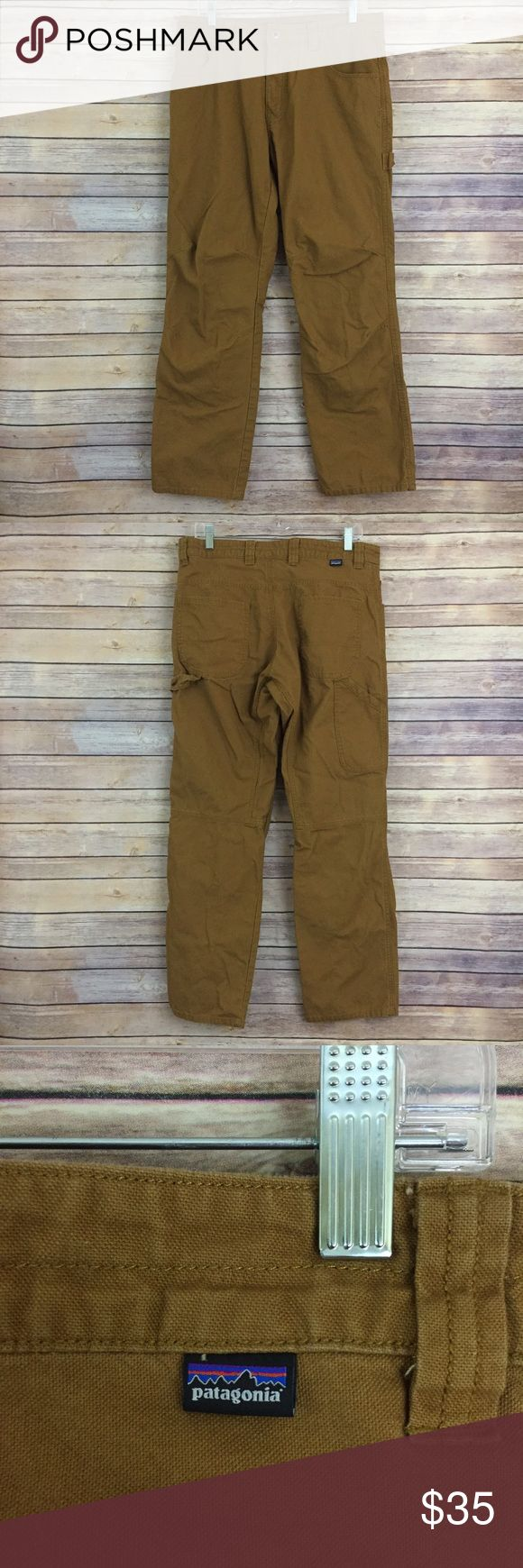 Patagonia men's spiced mustard brown pants, 34X30 These men's Patagonia pants are a size 34X30 and they are in excellent pre owned condition.  They are a spicy mustard color like an ochre. Patagonia Pants