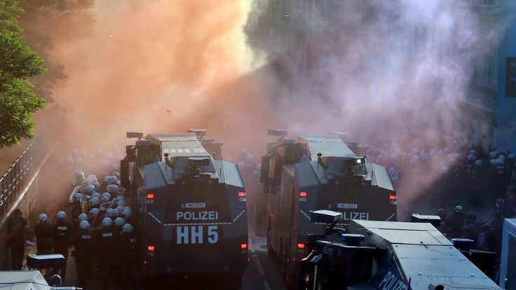 HAMBURG CHAOS Germany sends reinforcements after 160 cops injured amid G-20 rioting #World #iNewsPhoto