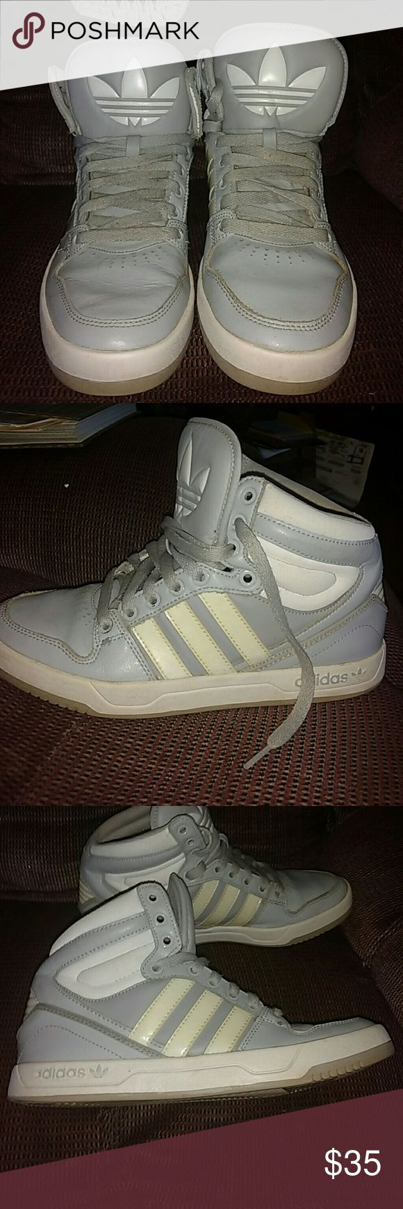 Leather ADIDAS HIGH TOP BASKETBALL SHOES GENUINE LEATHER MENS ADIDAS HIGH TOP BASKETBALL SHOES adidas Shoes Athletic Shoes