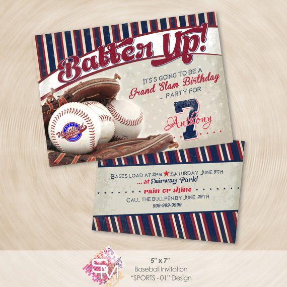Béisbol del vintage invitación invitación de por SMDesigns4You