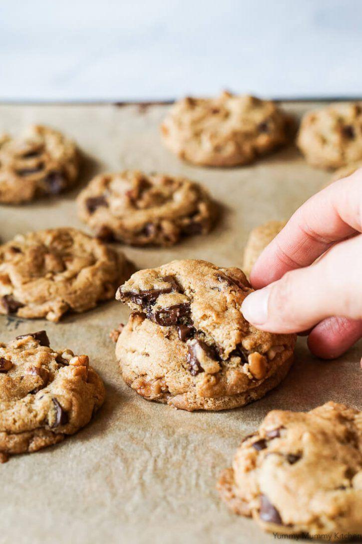 Vegan Chocolate Chip Cookies Yummy Mummy Kitchen Recipe Chocolate Chip Pecan Cookies Chocolate Chip Walnut Cookies Vegan Chocolate Chip Cookies