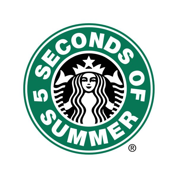 Logo ❤ liked on Polyvore featuring 5sos, fillers, starbucks logo, 5 seconds of summer, backgrounds, circle, circular and round