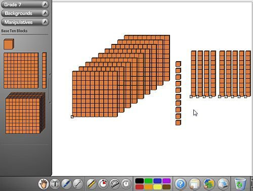 Virtual Manipulatives- great stuff here. Love the work mats and tools #kinderchat