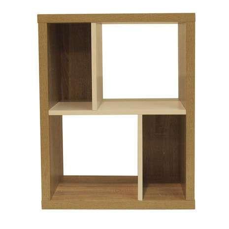 Lewis 4 Shelf Wide Bookcase | Dunelm