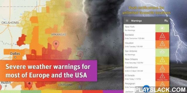 AlertsPro - Severe Weather  Android App - playslack.com ,  Be warned and be prepared! AlertsPro is the innovative app from MeteoGroup which forewarns of severe weather conditions such as storms, heavy rain, thunderstorms, hail, heavy snow, freezing rain and extreme temperatures.Also behind the best selling WeatherPro app, MeteoGroup is one of the few private weather companies to operate its own Severe Weather Centres – including the very popular www.severe-weather-centre.co.uk. AlertsPro now…