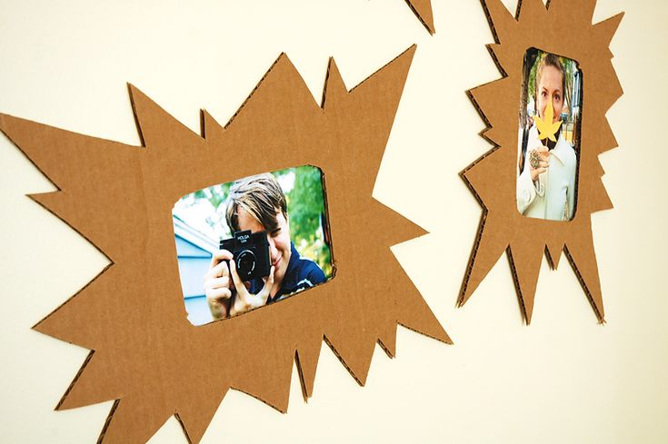 picture frames from cardboard for kids' art