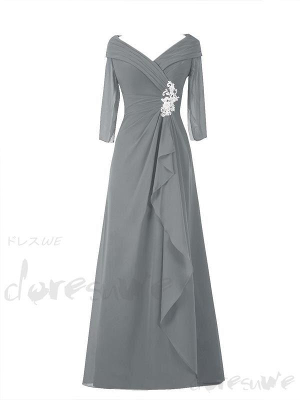 編み上げデザインの上品マザーズドレス ミセスドレス ロングドレス 11549894 - エレガント母ドレス - Doresuwe.Com