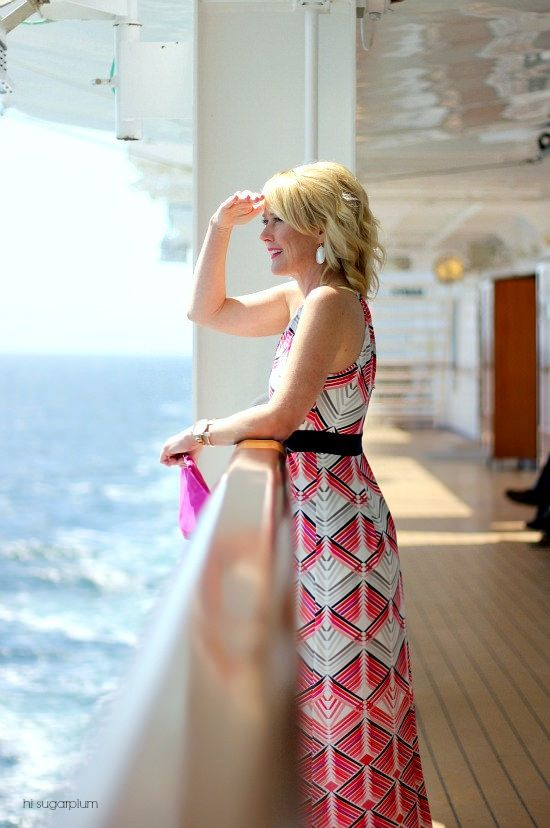 Hi Sugarplum | Cruise Style What to wear for the formal evenings on board. Love a good maxi dress outfit