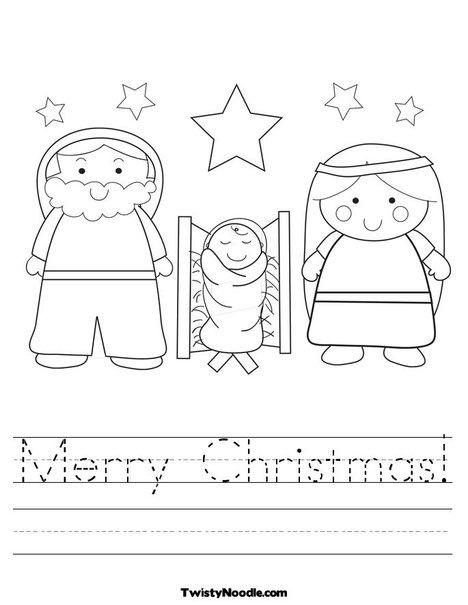 kleurplaat kerstfiguren