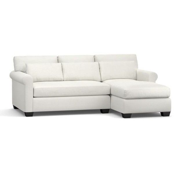 Small Sectional Sofa  liked on Polyvore featuring home furniture sofas slipcover loveseat slip cover couches pottery barn couches slipcover sofa and