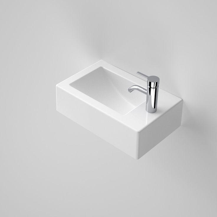 Liano Hand Wall Basin http://www.caroma.com.au/bathrooms/basins/liano/liano-hand-wall-basin