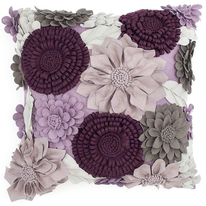 Felt flower pillow