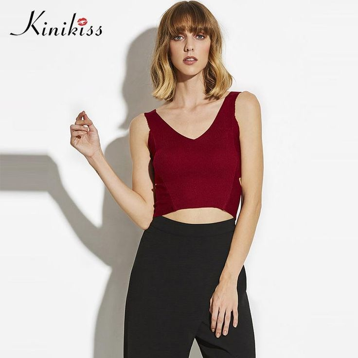 Women knitted top slim black women tops beach red winter fashion sheath female sexy spring female tank top