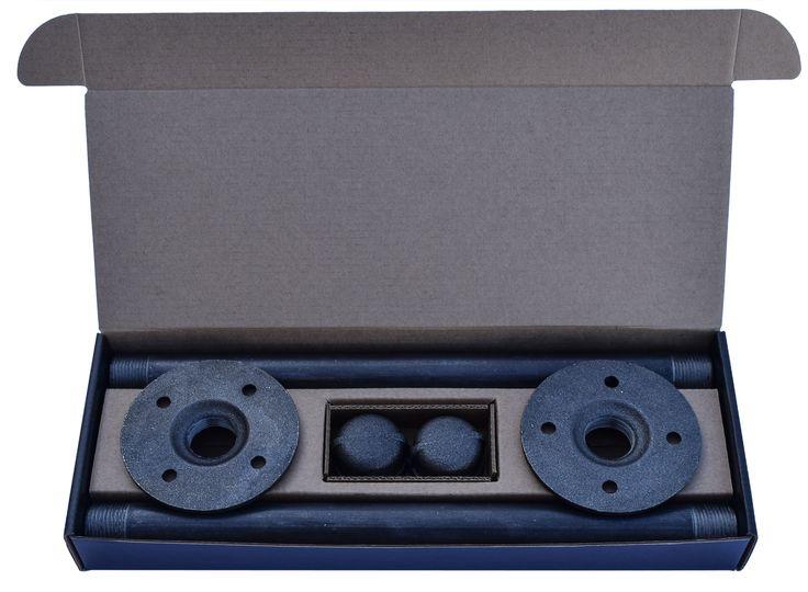 Packaging for DIY CARTEL's Indutrial shelf hardware. Produced by Fantastapack