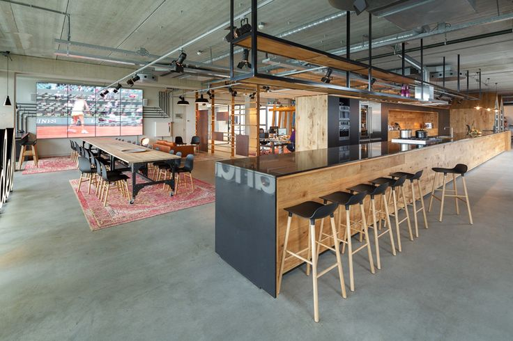 A Warehouse Is Transformed Into a Homey Office in Amsterdam