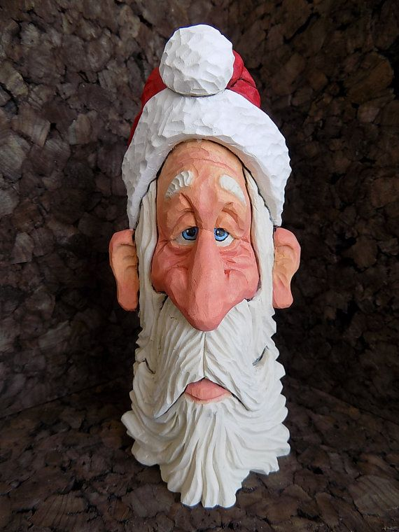 Images about carved santa on pinterest christmas
