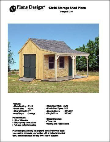 10 images about outdoor building plans on pinterest for Sheds with porches for sale