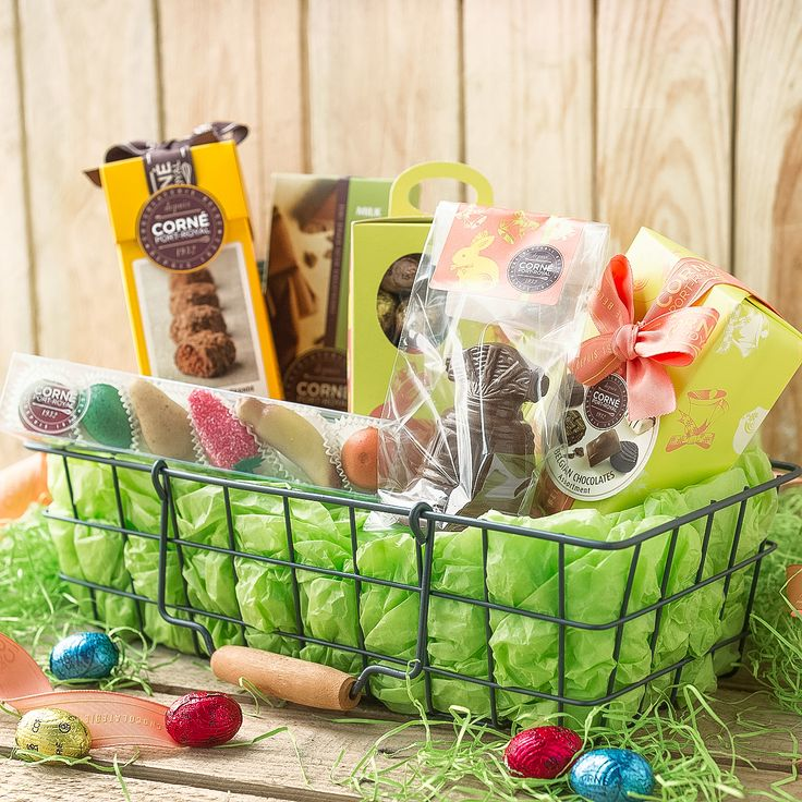 104 best easter gift baskets belgian chocolates images on they will wake up to a delightful surprise on easter morning when you send this deluxe easter gift basketshamper negle Image collections