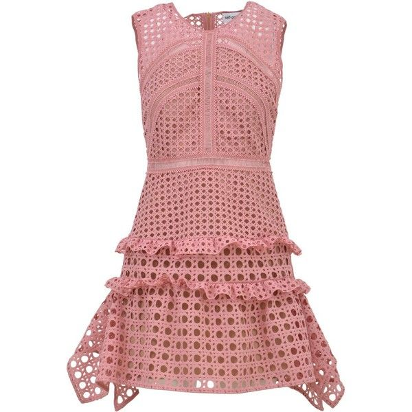 Mini Lace Dress (1.145 BRL) ❤ liked on Polyvore featuring dresses, pink, womenclothingdresses, red lace cocktail dress, short mini skirts, fitted flared dress, pink cocktail dress and lace mini skirt