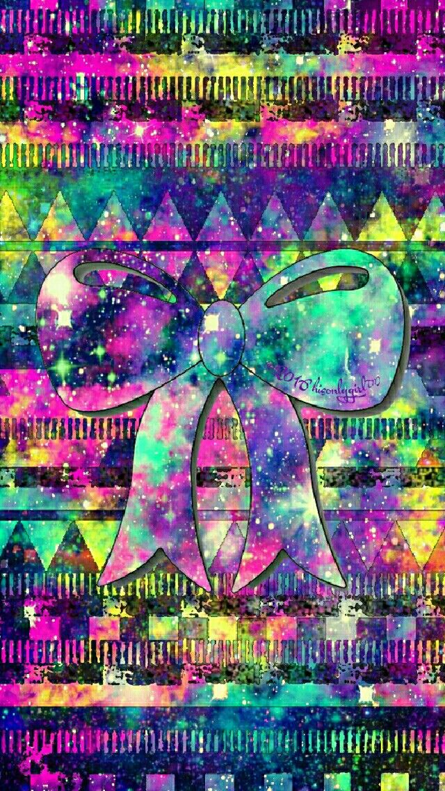 Tribal bow galaxy iPhone/Android wallpaper I created for the app CocoPPa! 2016hisonlygirl❤™