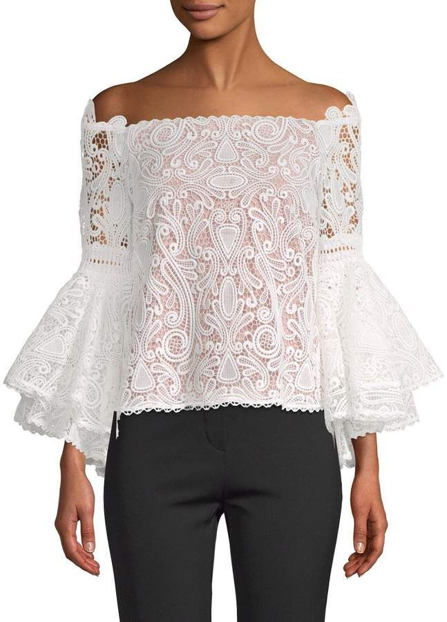 Alexis Women's Thea Lace Bell Sleeve Top