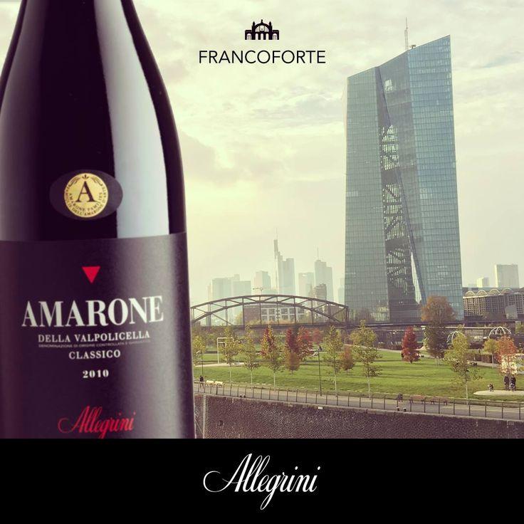 Allegrini Amarone is appreciated in Frankfurt Germany.  Where do you enjoy your Allegrini wine? email your photo to allegrininelmundo@allegrini.it