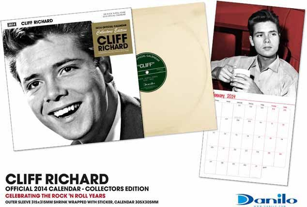 Cliff Richard collectors edition 2014 Calendar with Record Sleeve gift cover. This square format wall calendar celebrates Cliff's music career which began back in the 1950's. http://www.danilo.com/Shop/Music-Calendars/Cliff-Collectors-Edition-2014-Calendar