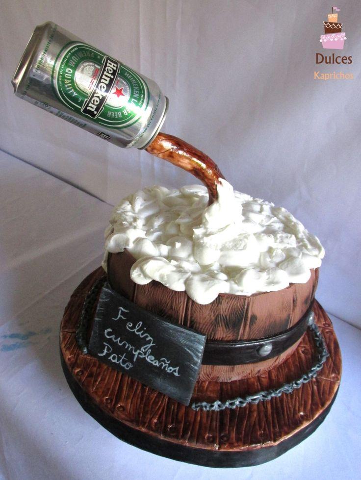 Torta Cerveza para celebrar a Pato  #TortaCerveza #TortasDecoradas #DulcesKaprichos