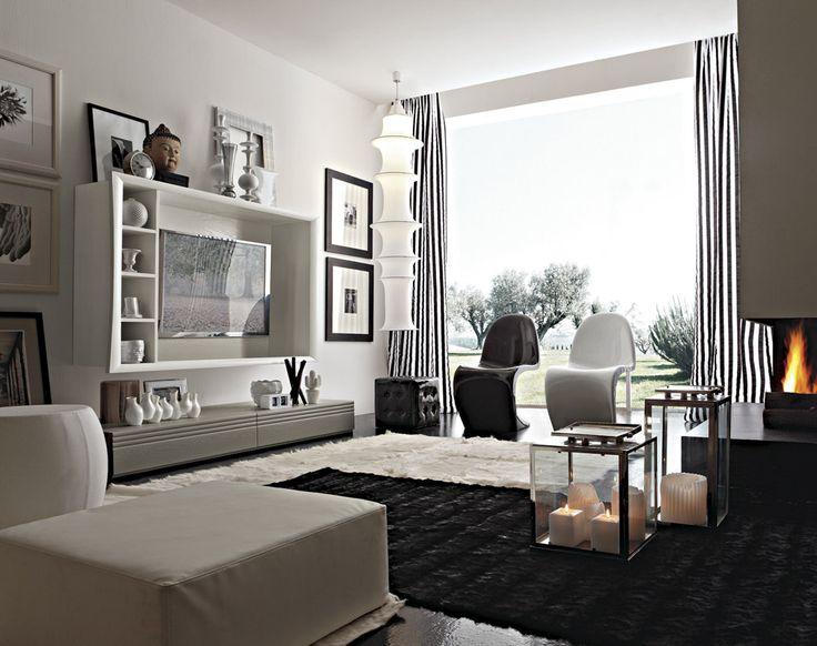#living #componbili #arredi #zonagiorno #verde #pareti #attrezzate #soggiorno #style #qualità #legno #arredamento #interni #madeinitaly