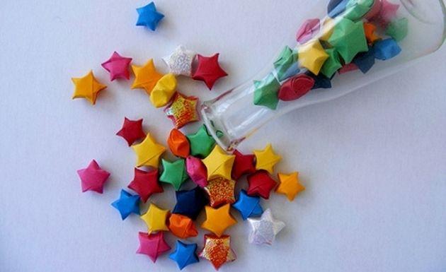 Como fazer estrelas de origami