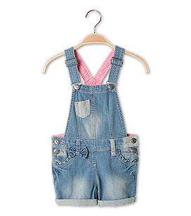 Mädchen Gr. 92-176 Jeans-Latzshorts in hellblau - Mode günstig online kaufen - C&A