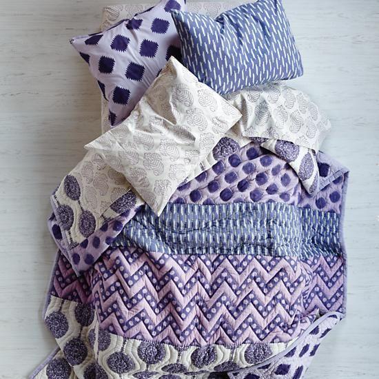 the land of nod kids 39 bedding girls 39 purple patterned cotton bedding in girl bedding dreamy. Black Bedroom Furniture Sets. Home Design Ideas