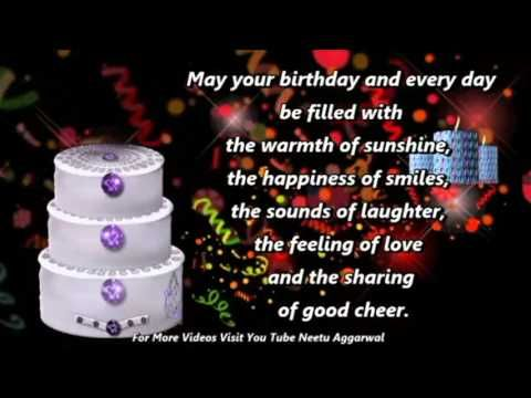 Happy Birthday Wishes,Greetings,Quotes,Sms,Saying,E-Card,Wallpapers,Birthday Song,Whatsapp Video - YouTube