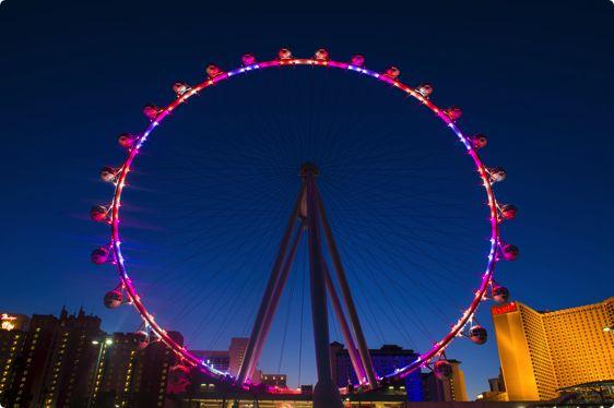 Verdens største pariserhjul High Roller, Las Vegas