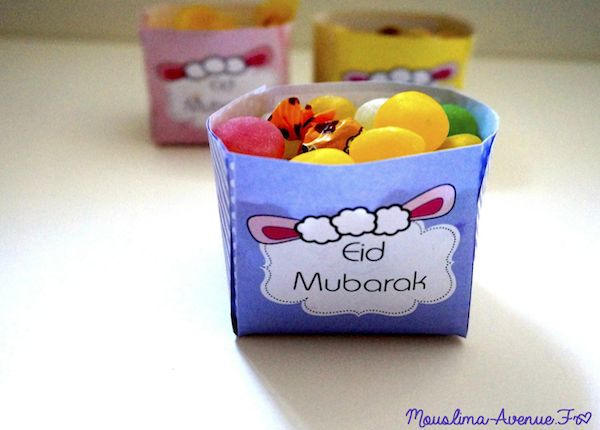 Spécial Eid : Boites Bonbons à imprimer gratuitement ! | Mouslima Avenue FREE PRINTABLE EID AL AHDAA