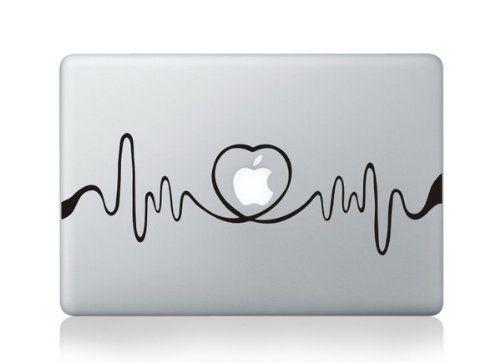 Heart Beat Line Macbook Decals Skin Stickers Mac Pro Deca...