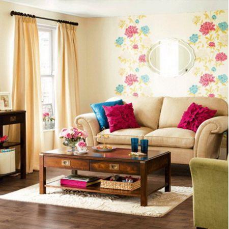 50 contoh wallpaper dinding ruang tamu minimalis - ruang