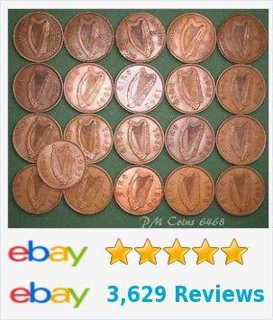 21 Irish Pennies 1d EIRE Ireland, 1928 to 1968 complete date run, coins [6468]  | eBay http://www.ebay.co.uk/itm/21-Irish-Pennies-1d-EIRE-Ireland-1928-1968-complete-date-run-coins-6468-/371803849264?hash=item56913c8230