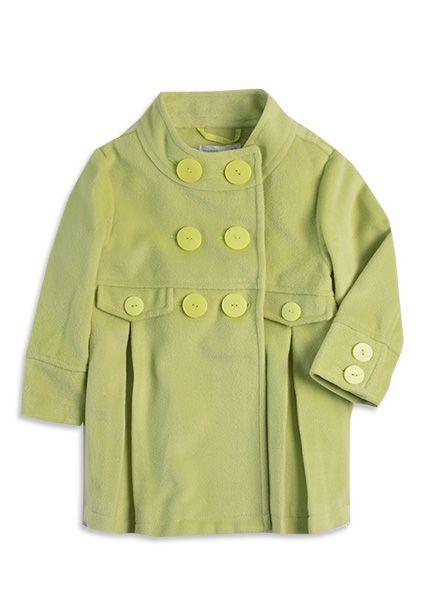 Pumpkin Patch - jackets  - plush long coat - W3TG40014 - citron - 12-18mths to 6