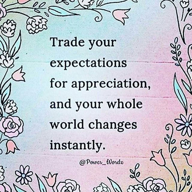 trade in your expectations for appreciation