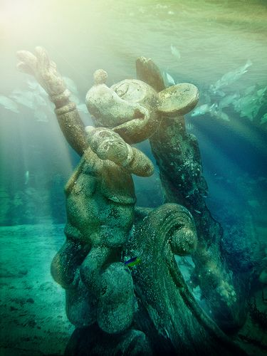Underwater Mickey at Castaway Cay, Snorkeling, Disney Cruise Line